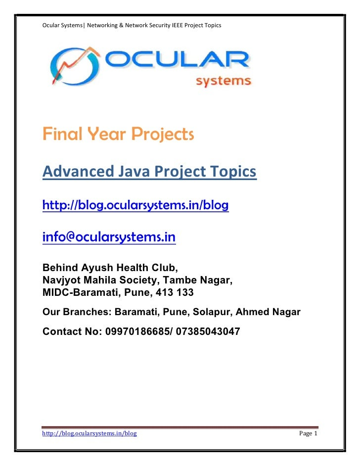 information security project topics