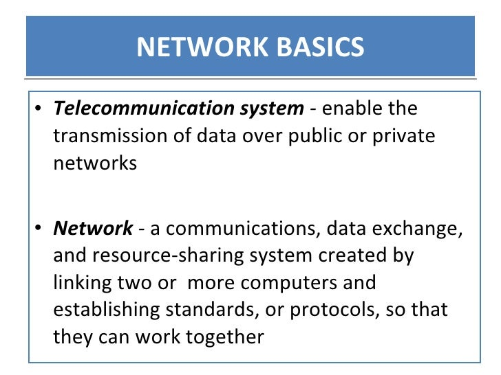 Networking And Telecommunications