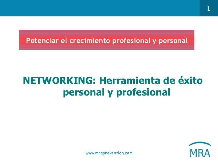 <ul><li> </li></ul><ul><li> </li></ul><ul><li>NETWORKING: Herramienta de éxito personal y profesional </li></ul>Potencia...