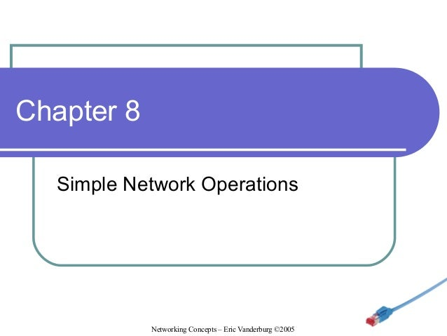 Chapter 8 Simple Network Operations  Networking Concepts – Eric Vanderburg ©2005