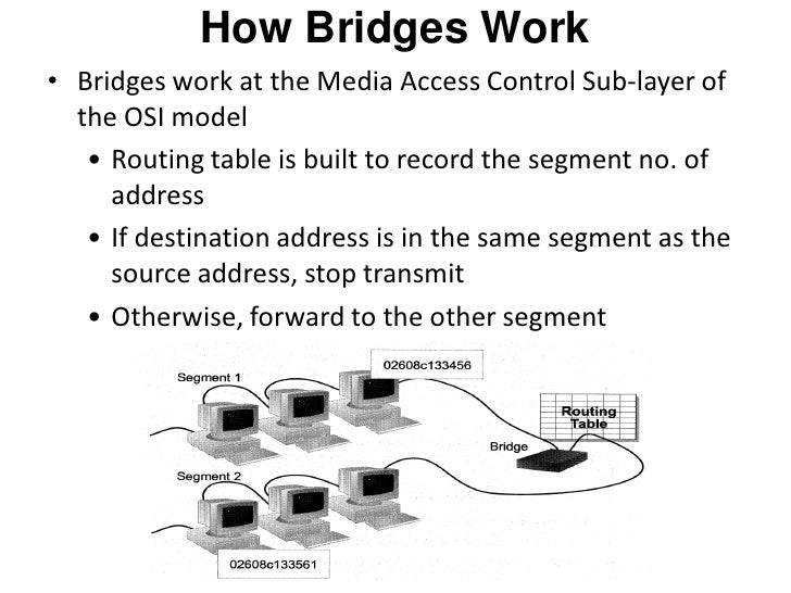 how to change the network of the bridge