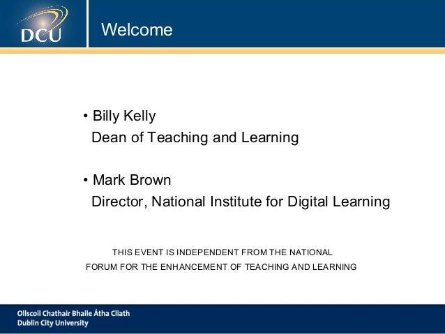 Networking Event: Building Digital Capacity in Irish HigherEducation Slide 2