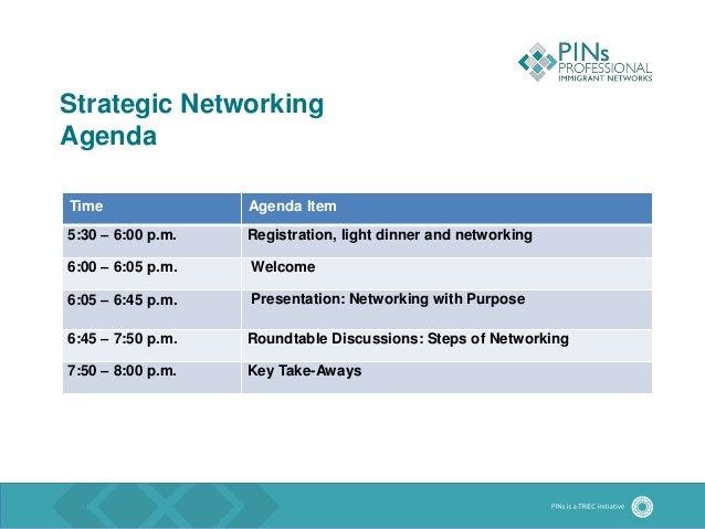 Presentation Pins Strategic Networking Event