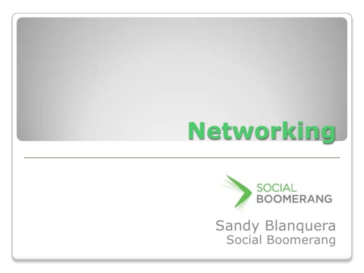 Networking - Effective Tips for Success