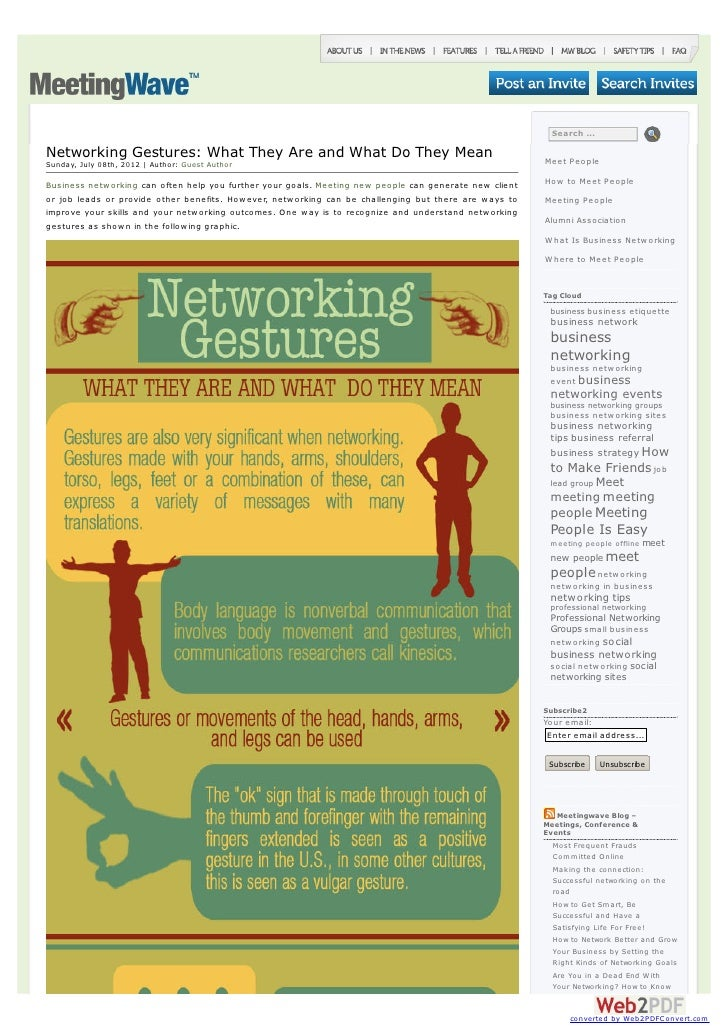 Search ...Networking Gestures: What They Are and What Do They Mean                                                  Meet P...