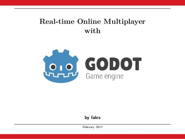 Real-time Online Multiplayer with Godot Engine