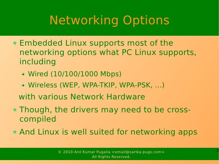 Networking in Embedded Linux Slide 3