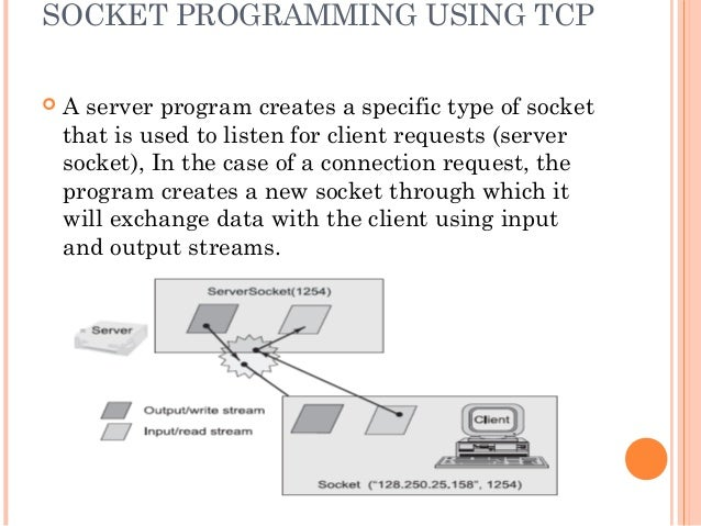 how to create client server socket in java