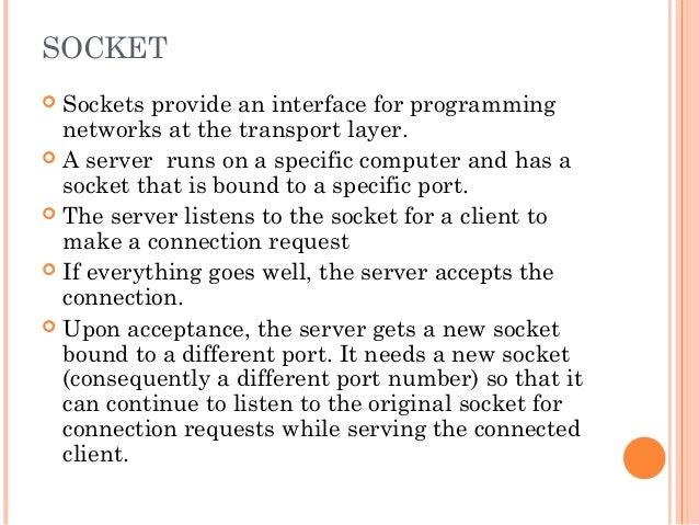 Networking Java Socket Programming