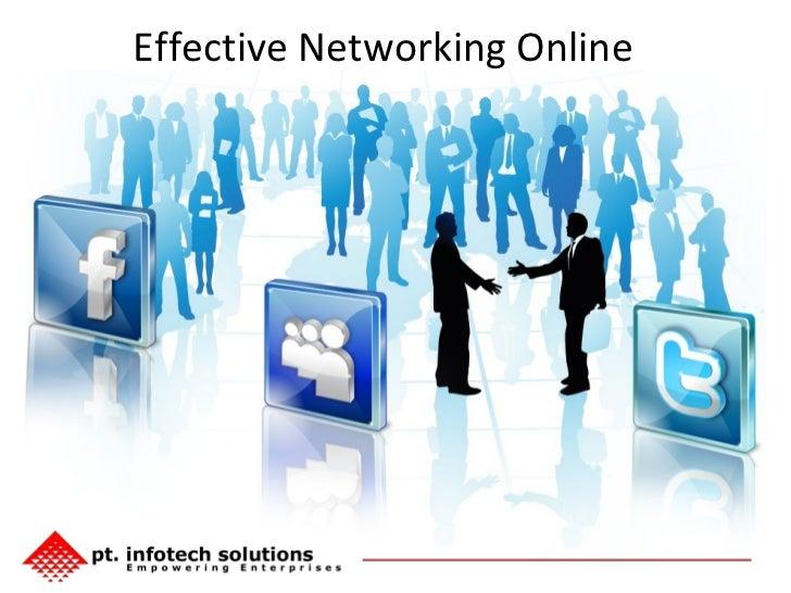 Effective Networking Online
