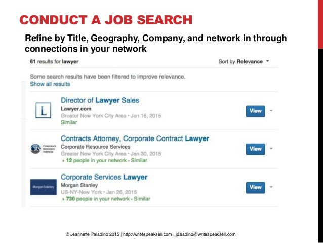how to network for a job