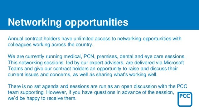 Annual contract holders have unlimited access to networking opportunities with colleagues working across the country. We a...
