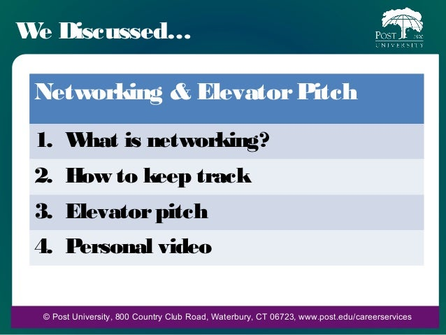 networking and elevator pitch powerpoint