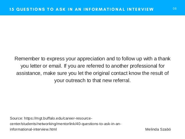 questions to ask at an informal interview