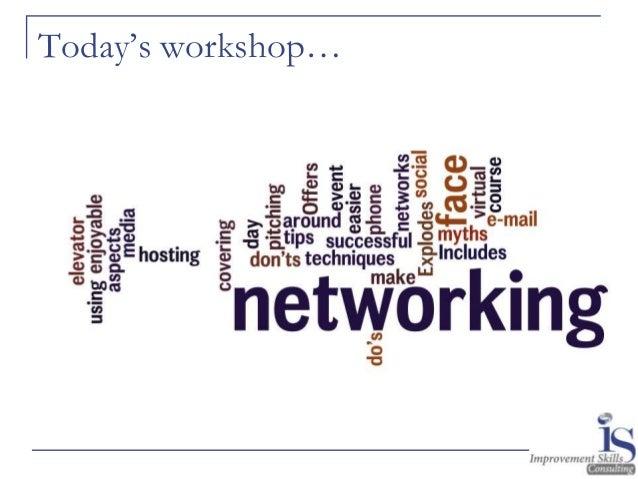 Networking Skills Workshop Slide 2