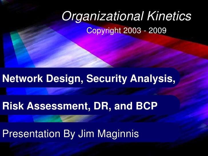 Copyright James B. Maginnis 2000-2005  1                                  Organizational Kinetics                         ...