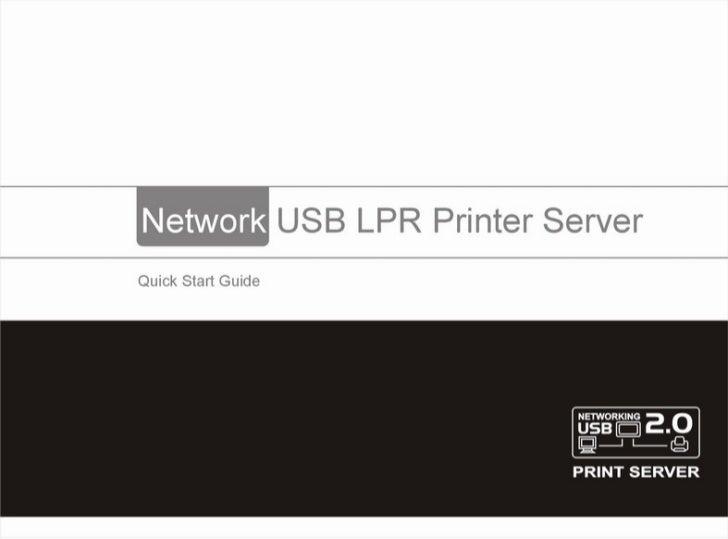 Networking usb printer manual