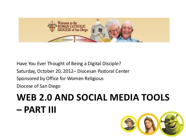 Have You Ever Thought of Being a Digital Disciple?Saturday, October 20, 2012– Diocesan Pastoral CenterSponsored by Office ...