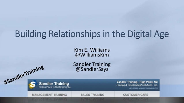 Kim E. Williams@WilliamsKimSandler Training @SandlerSays