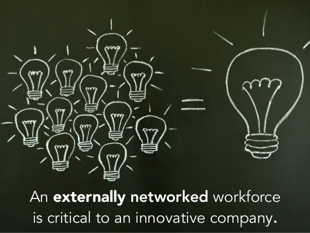 An externally networked workforce is critical to an innovative company.