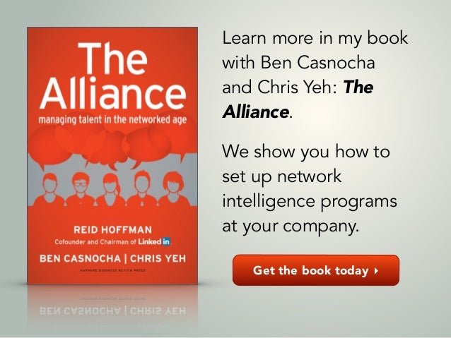 Get the book today ▸ Learn more in my book with Ben Casnocha and Chris Yeh: The Alliance. ! We show you how to set up netw...