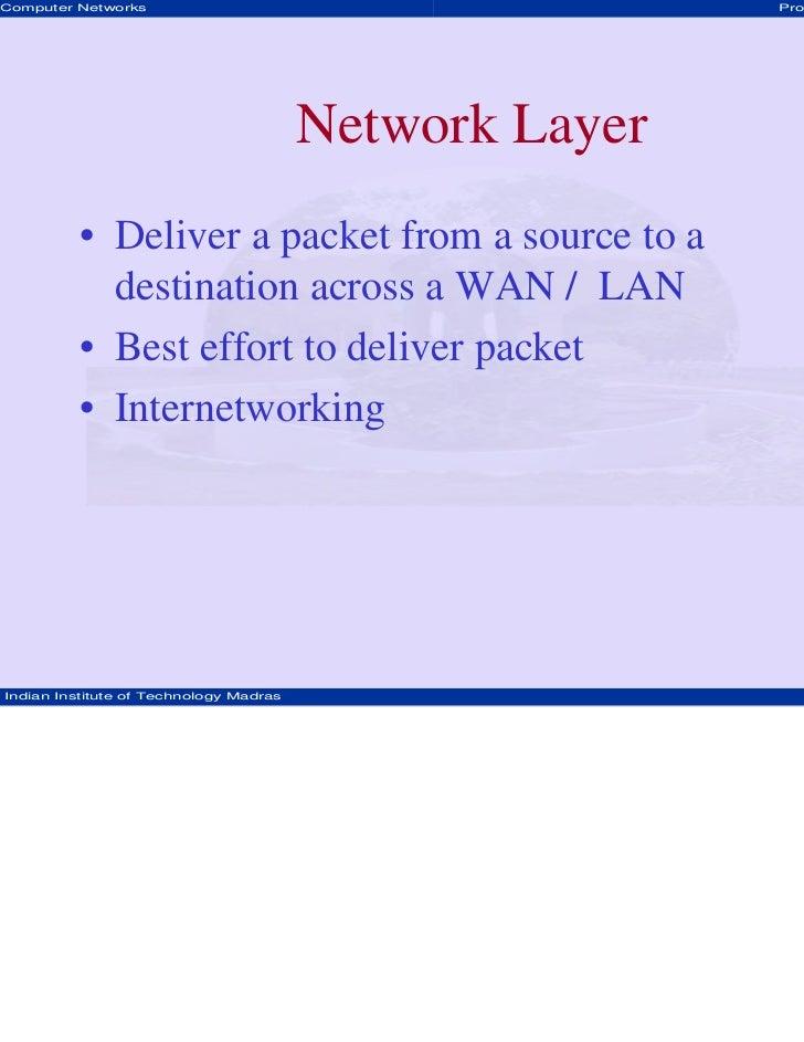 Computer Networks                                       Prof. Hema A Murthy                                        Network...