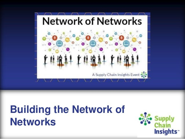 Network of Networks Discussion and Charter Document