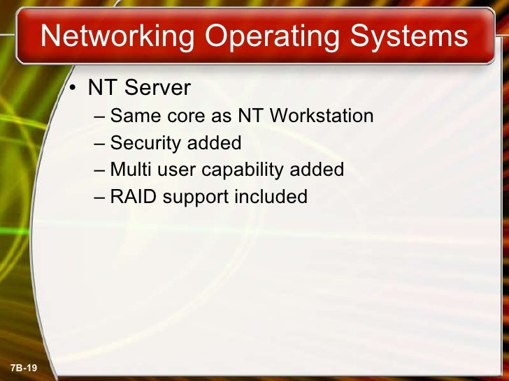 choosing a network operating system And join the network the operating system is the most important program running on a computer choosing the operating system.