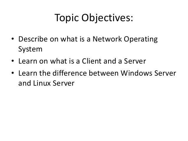network operating system Comprehensive list of network operating and some information about each one.