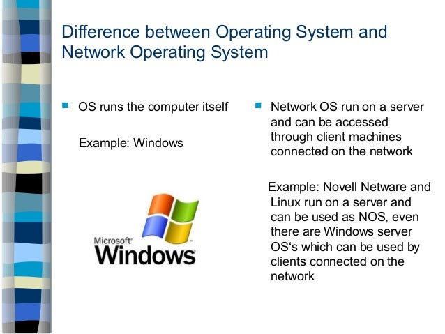 Examples Of Networking Operating System