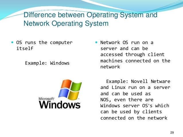 Network operating systems1