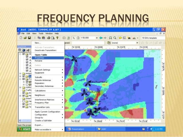 Atoll rf planning tool tutorial