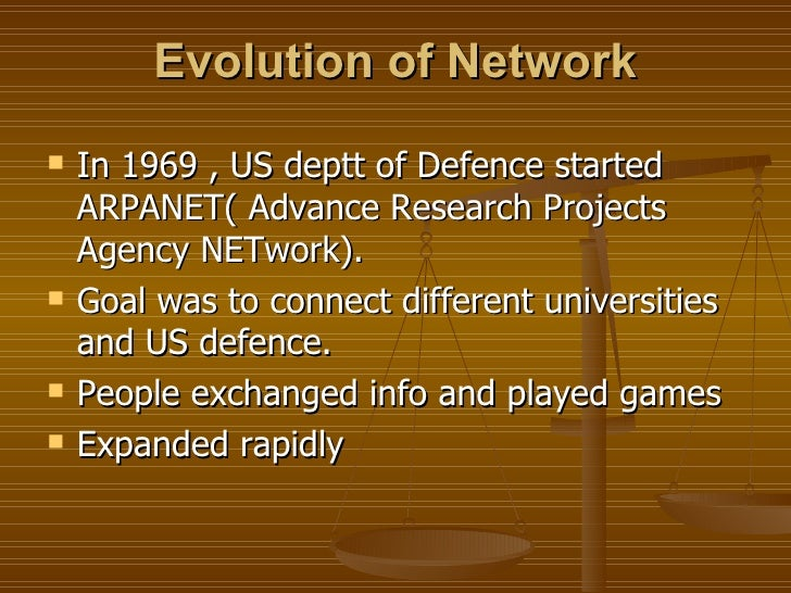 an analysis of the topic of the arpanet