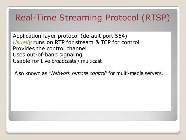 web browser media player Web Server Web Server/Media server RTSP Overview RTSP pres. desc,streaming commands RTP/RTCP audi...