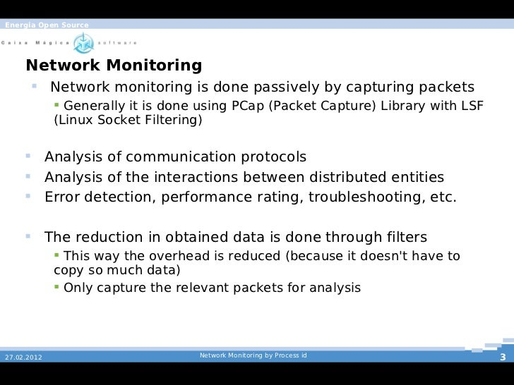 Network processing by pid