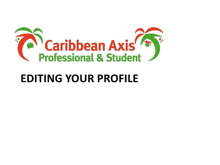 Editing your profile<br />