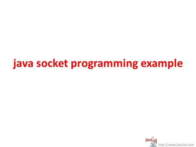 Network programming in java - PPT