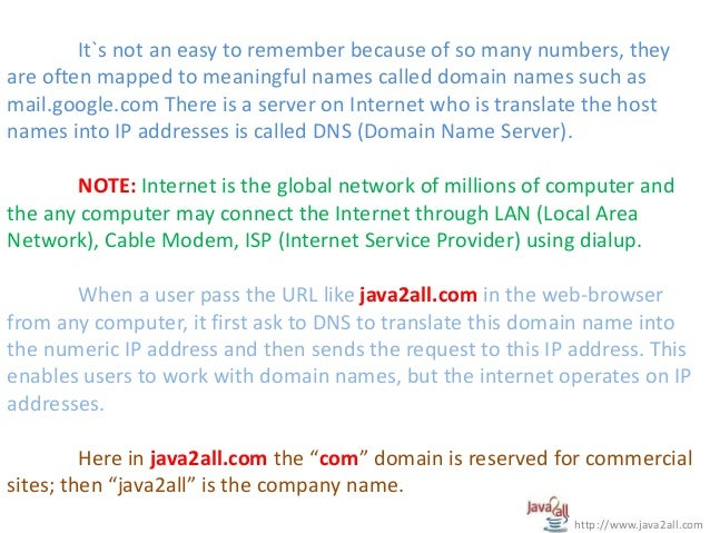 Network Programming In Java Ppt
