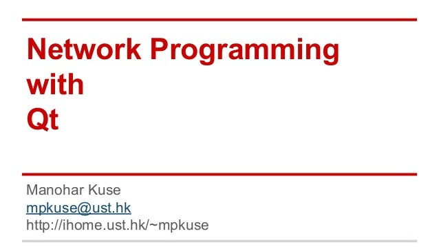 Network programming with Qt (C++)