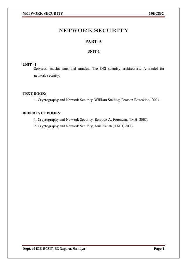 Network security 10EC832 vtu notes