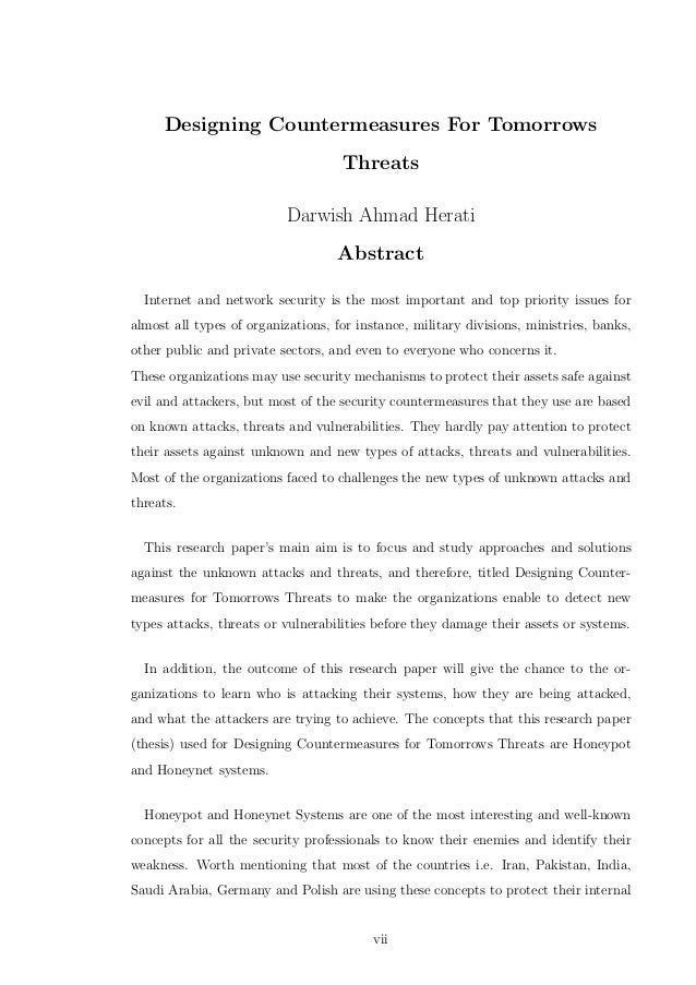 Dissertation on network security