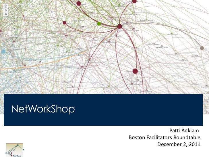 NetWorkShop                                Patti Anklam              Boston Facilitators Roundtable                       ...