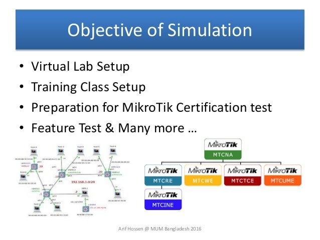 Network Simulation using Mikrotik Router OS CHR (MUM Presentation)