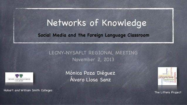 Networks of Knowledge Social Media and the Foreign Language Classroom  LECNY-NYSAFLT REGIONAL MEETING November 2, 2013 Món...