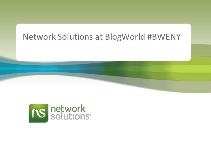 Network Solutions at BlogWorld #BWENY<br />