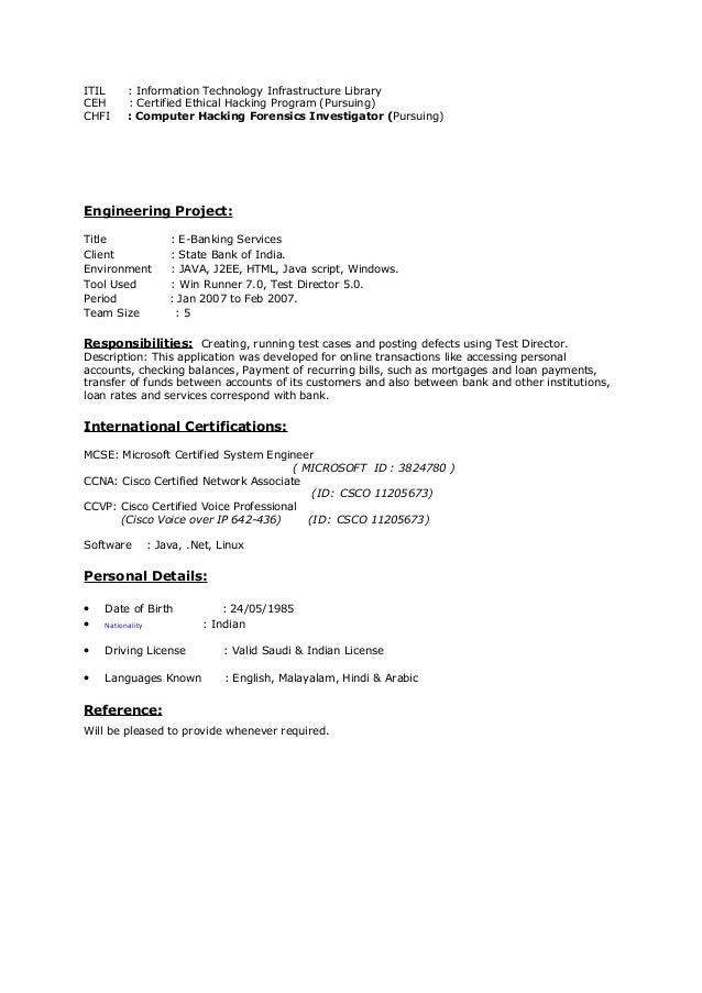 Network System Engineer, Resume
