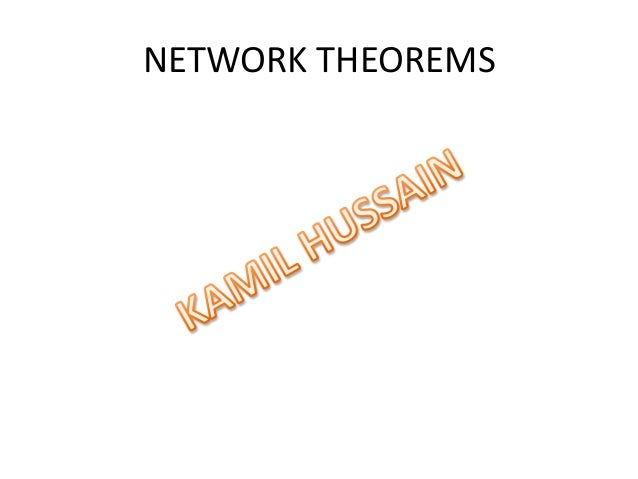 network theorems for electrical engineering