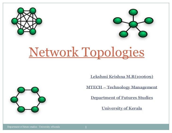 Lekshmi Krishna M.R(100609) MTECH – Technology Management Department of Futures Studies University of Kerala Network Topol...