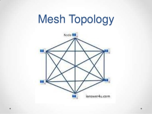 mesh topology Mesh and hybrid mesh topologies illustrate the characteristics of the mesh and hybrid mesh topologies the most complex of all topologies is the mesh topologyin a mesh configuration, computers have redundant physical connections to one another.