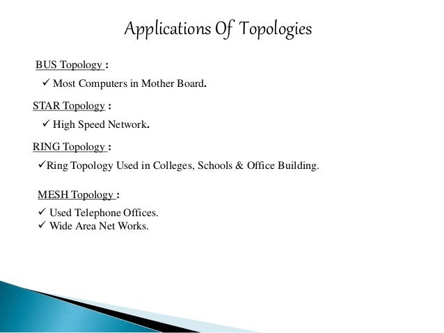 lan topologies essay Lan topologies lan physical topology defines the geographical arrangement of networking devices topologies are driven fundamentally by two network connection types.